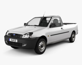 3D model of Ford Courier 2011