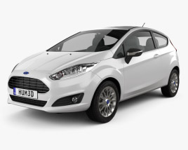 3D model of Ford Fiesta hatchback 3-door (EU) 2013