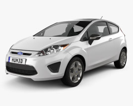 3D model of Ford Fiesta hatchback 3-door (US) 2012
