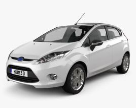 3D model of Ford Fiesta hatchback 5-door (EU) 2012