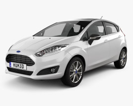 3D model of Ford Fiesta hatchback 5-door (EU) 2013