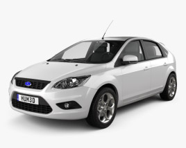 3D model of Ford Focus hatchback 5-door 2009