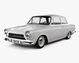 3D model of Ford Lotus Cortina Mk1 1963