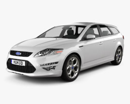 3D model of Ford Mondeo Turnier Titanium X Mk4 2012