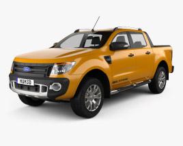 Ford Ranger Wildtrak Doppelkabine 2012 3D-Modell