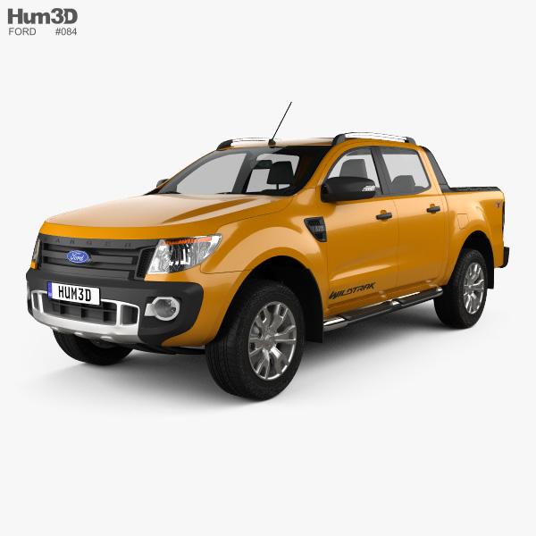 Ford Ranger Wildtrak Double Cab 2012 3D model