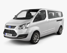 3D model of Ford Tourneo Custom LWB 2013