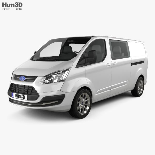 Ford Transit Custom Crew Van LWB 2013 3D-Modell
