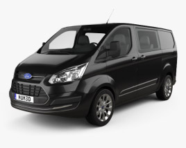 3D model of Ford Transit Custom Crew Van SWB 2013