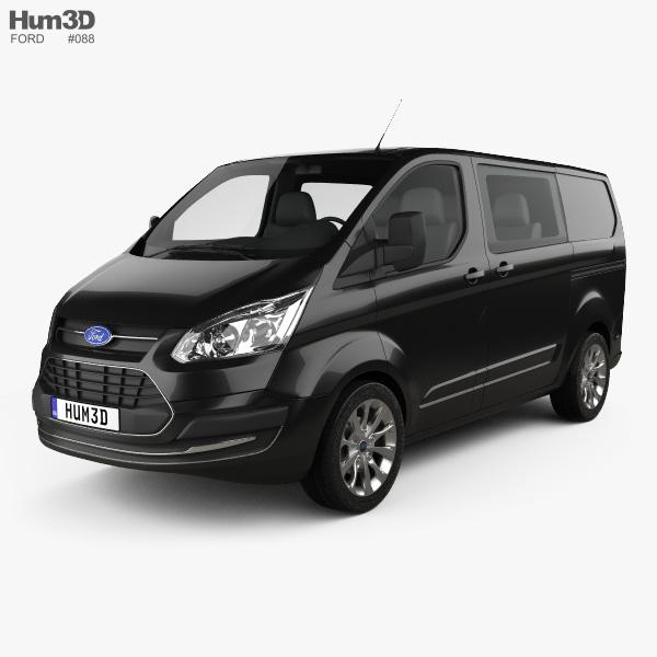 Ford Transit Custom Crew Van SWB 2013 3D-Modell