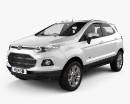 3D model of Ford Ecosport Titanium 2013