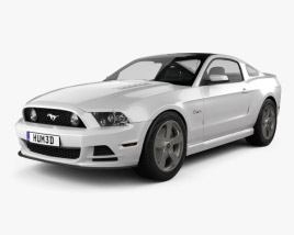 3D model of Ford Mustang 5.0 GT 2012