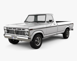 3D model of Ford F-150 1973