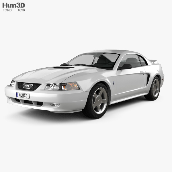 Ford Mustang GT coupe 1999 3D model