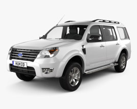 3D model of Ford Everest 2012