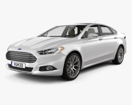3D model of Ford Fusion (Mondeo) with HQ interior 2013