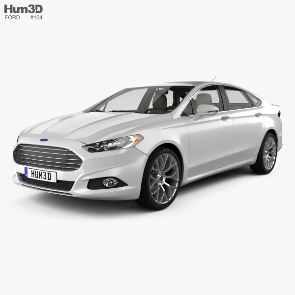 Ford Fusion (Mondeo) mit Innenraum 2013 3D-Modell