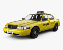 Ford Crown Victoria New York Taxi 2005 3D model