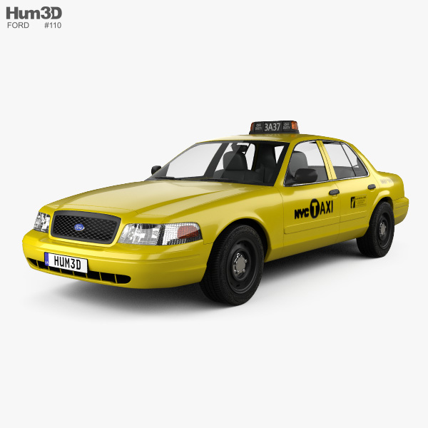 3D model of Ford Crown Victoria New York Taxi 2005