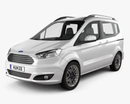 3D model of Ford Tourneo Courier 2013