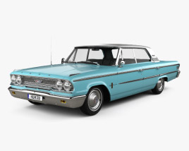 3D model of Ford Galaxie 500 hardtop 1963