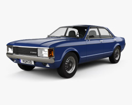 3D model of Ford Granada sedan EU 1972