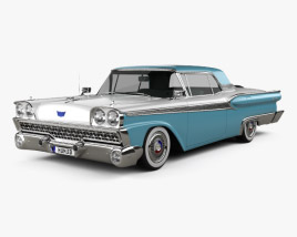 3D model of Ford Fairlane 500 Galaxie Skyliner 1959
