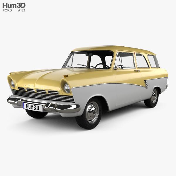Ford Taunus P2 17M kombi 1957 Modelo 3d