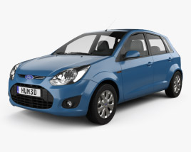 3D model of Ford Figo (Ikon Hatch) 2012