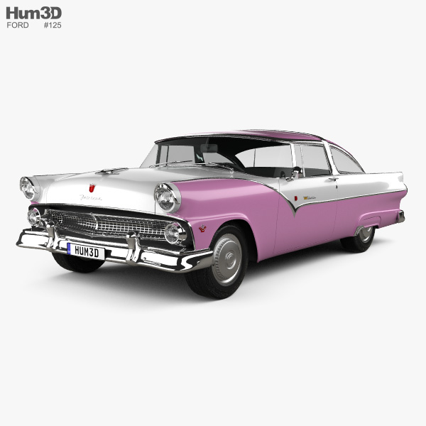 3D model of Ford Crown Victoria 1955