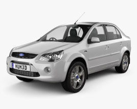 3D model of Ford Ikon 2012
