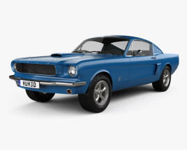 3D model of Ford Mustang Fastback 1965
