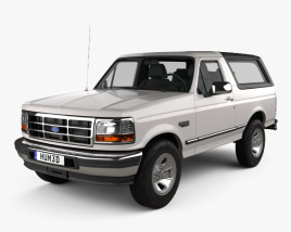 3D model of Ford Bronco 1992