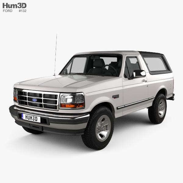 Ford Bronco 1992 3D模型