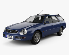 3D model of Ford Scorpio wagon 1994