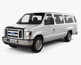 3D model of Ford E-Series Passenger Van 2011