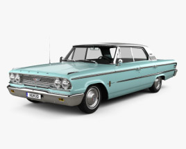 3D model of Ford Galaxie 500 hardtop with HQ interior 1963