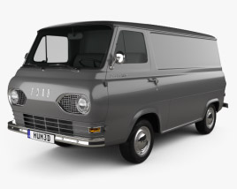 3D model of Ford E-Series Econoline Panel Van 1961