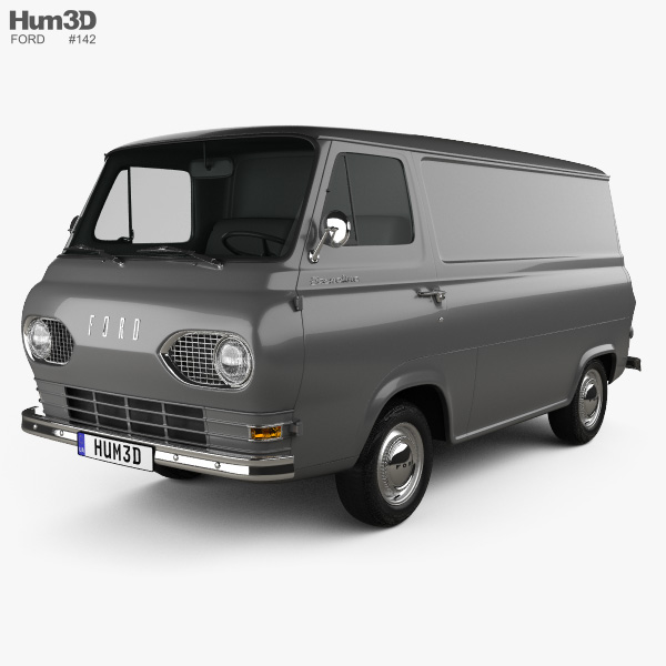 Ford E-Series Econoline Panel Van 1961 3D model