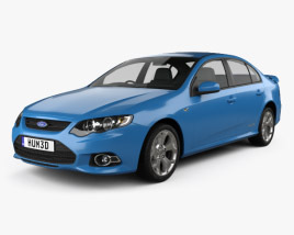 3D model of Ford FG Falcon XR6 sedan 2011