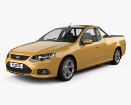 3D model of Ford FG Falcon XR6 UTE 2011