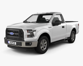 3D model of Ford F-150 Regular Cab XLT 2014