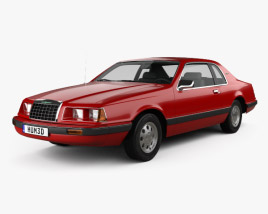 Ford Thunderbird 1983 3D model