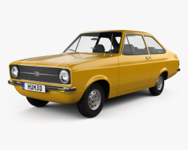 3D model of Ford Escort (EU) 1975