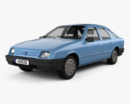 3D model of Ford Sierra hatchback 5-door 1984