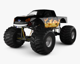 3D model of Ford F-150 Monster Truck 2012