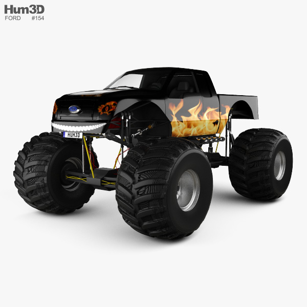 3D model of Ford F-150 Monster Truck 2012