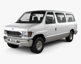 3D model of Ford E-Series Passenger Van 1998