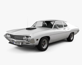 3D model of Ford Falcon 429 Super Cobra Jet 2-door 1970