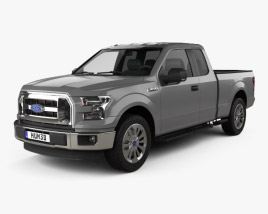 3D model of Ford F-150 Super Cab XLT 2014